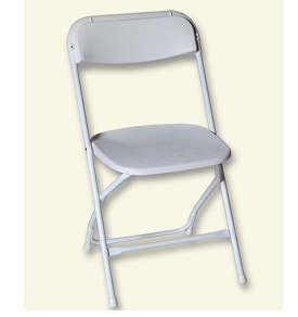 White Folidng Chair